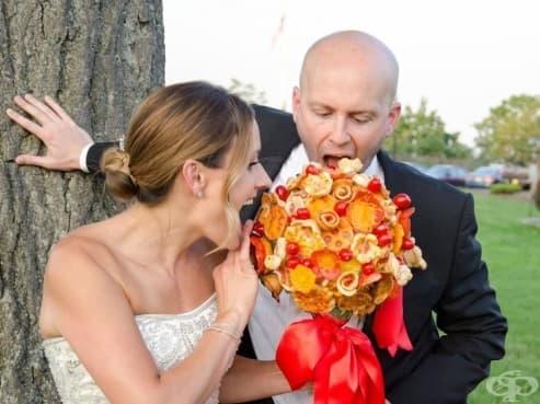 Нова мода: Сватбен букет от пица - изображение