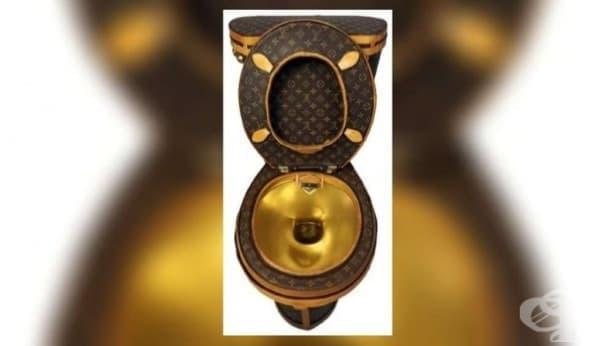 Вижте тоалетната, направена от 24 дизайнерски чанти на Луи Витон и златно покритие - изображение