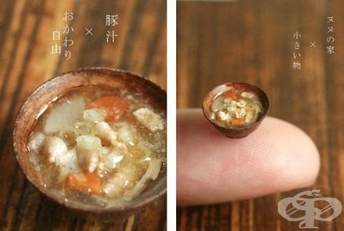 Извънредно реалистичните миниатюрни копия на храни и кухненски прибори с размер на грахово зърно на Томо Танака (снимки) - изображение