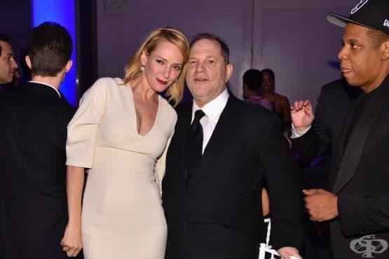 Ума Търман намекна, че е една от жертвите на холивудския продуцент Харви Уайнстийн - изображение