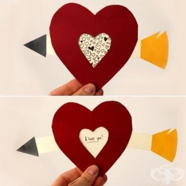 Как да си направим страхотна валентинка с мърдаща се стрела и послание - изображение