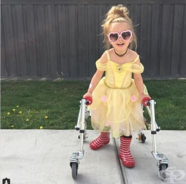 Момиченце на 3 години с церебрална парализа е най-новата модна икона - изображение