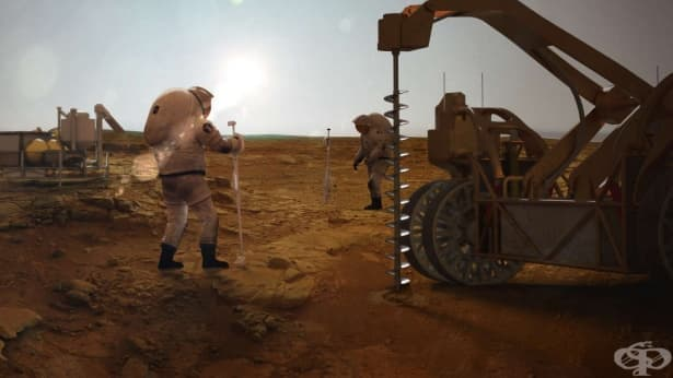 Огромни количества вода откриха на Марс - изображение