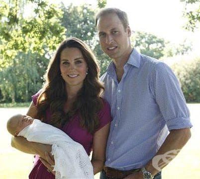 Кралски семеен портрет: принц Уилям, Кейт Мидълтън и принц Джордж - изображение