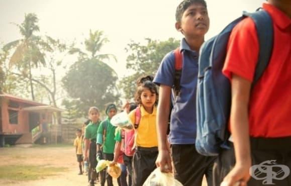 Училище в Индия приема пластмасови отпадъци като такса за обучение - изображение