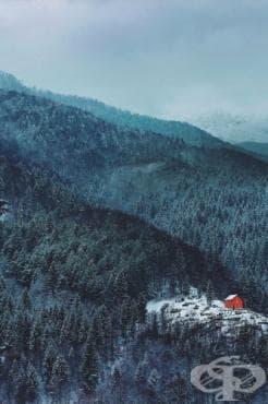 50 приказни зимни фотографии на малки къщи, изолирани от света насред бялата пустош - изображение