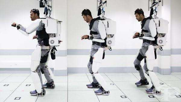 Парализиран човек проходи с помощта на контролиран от мозъка роботизиран костюм - изображение