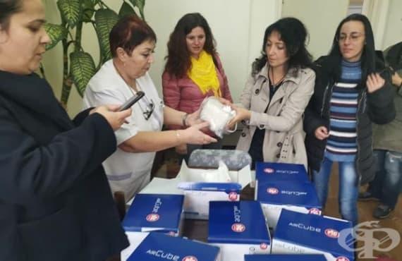 """Хората в Лом събраха пари и дариха 8 инхалатора на МБАЛ """"Св. Николай Чудотворец"""" - изображение"""
