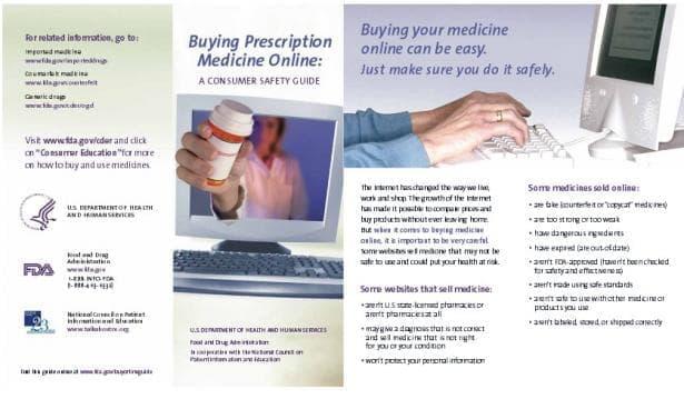 Наръчник по безопасност за клиента при онлайн покупката на лекарства по лекарско предписание на Агенцията по храни и  лекарства в САЩ - изображение
