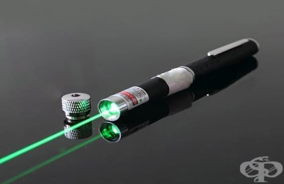 Невнимателното боравене с лазерни показалки може да увреди зрението - изображение