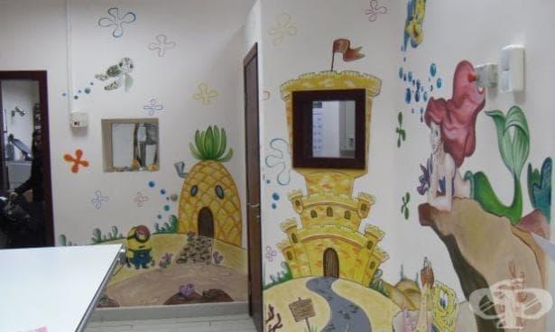 """Проект  """"Надежда рисува"""" в Столичната Педиатрия (Снимки) - изображение"""