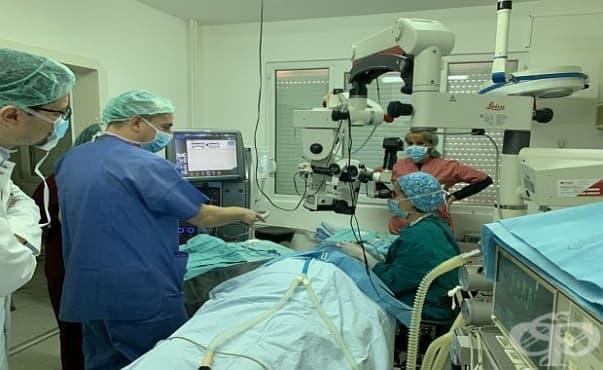 """В Очната клиника на УМБАЛ """"Д-р Г. Странски"""" – Плевен ще правят безкръвни операции със свръхмодерен апарат - изображение"""