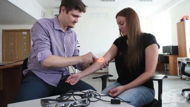 Работят по създаването на система за визуализация на кръвоносните съдове - изображение