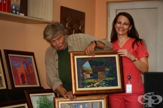 """Сдружение """"Синя зона"""" дари десет картини на неврологията в """"Пирогов"""" - изображение"""