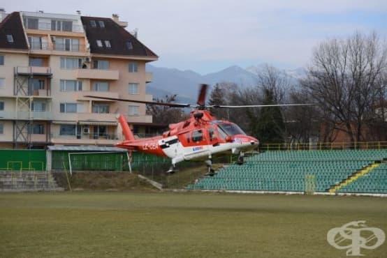 """Хеликоптерът на """"Активна грижа"""" транспортира успешно мъж в кома  - изображение"""