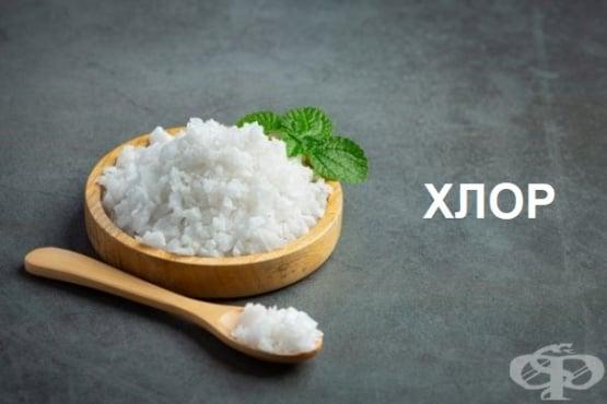 Хлор - въздействие върху организма и хранителни източници - изображение