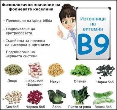 Физиологично значение на фолиевата киселина - изображение