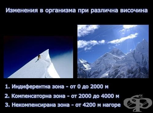 Изменения в организма при различна височина - изображение
