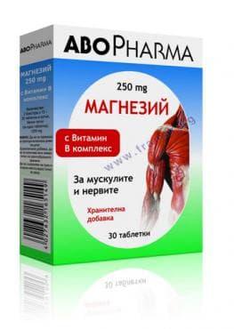 Изображение към продукта АБОФАРМА МАГНЕЗИЙ + ВИТАМИН Б КОМПЛЕКС табл. * 30