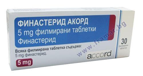 Изображение към продукта ФИНАСТЕРИД таблетки 5 мг * 30 АКОРД