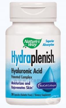 Изображение към продукта ХИДРАПЛЕНИШ ХИАЛУРОНОВА КИСЕЛИНА капсули 500 мг. * 30 NATURE'S WAY