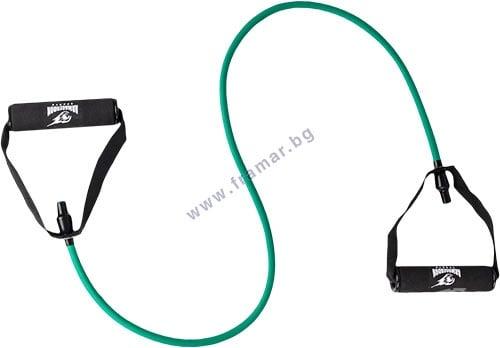Изображение към продукта АРМАГЕДОН ФИТНЕС ЛАСТИК С РЪКОХВАТКИ  ЗЕЛЕН 15 кг