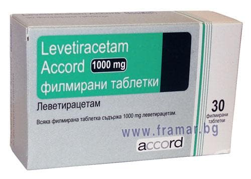 ЛЕВЕТИРАЦЕТАМ АКОРД таблетки 1000 мг. * 30 ACCORD HEALTHCARE LTD