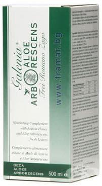 Изображение към продукта АЛОЕ АРБОРЕСЦЕНС по рецептата на падре Заго сок 500 мл. DECA ALOES