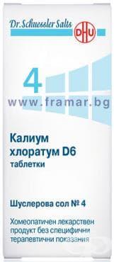 ШУСЛЕРОВИ СОЛИ НОМЕР 4 КАЛИУМ ХЛОРАТУМ D 6 таблетки * 80 - изображение