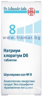 ШУСЛЕРОВИ СОЛИ НОМЕР 8 НАТРИУМ ХЛОРАТУМ D6  таблетки * 420 - изображение