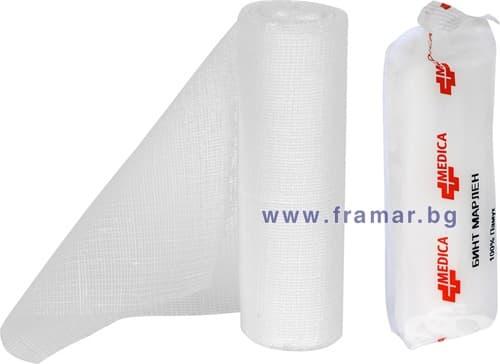 Изображение към продукта МАРЛЕН БИНТ 7 м / 14 см МЕДИКА
