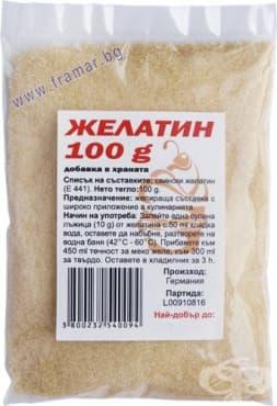 ЖЕЛАТИН ПРАХ 100 гр. ЯЖ ПОЛЕЗНО - изображение