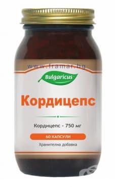 БУЛГАРИКУС КОРДИЦЕПС капсули 750 мг. * 60 - изображение