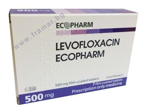 ЛЕВОФЛОКСАЦИН таблетки 500 мг. * 7 ЕКОФАРМ - изображение