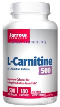 ДЖАРОУ ФОРМУЛАС L-КАРНИТИН капсули 500 мг.* 180 - изображение
