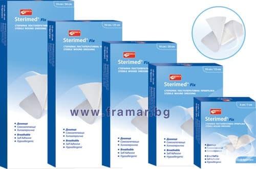 Изображение към продукта СТЕРИМЕД ФИКС стерилни постоперативни превръзки 10 см. / 15 см. * 10