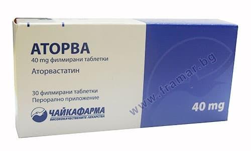 Изображение към продукта АТОРВА таблетки 40 мг. * 30