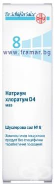 Изображение към продукта ШУСЛЕРОВИ СОЛИ НОМЕР 8 НАТРИУМ ХЛОРАТУМ D4 унгвент 50 гр.
