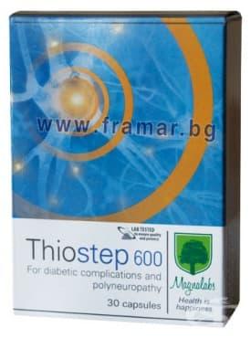 МАГНАЛАБС ТИОСТЕП 600 капсули * 30 - изображение