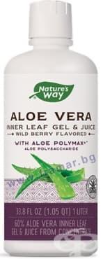 Изображение към продукта АЛОЕ ВЕРА гел и сок ПЛОДОВ 60% 1 литър NATURE'S WAY