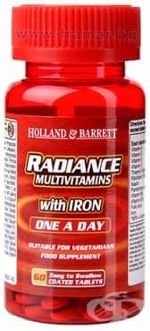 Изображение към продукта МУЛТИВИТАМИНИ С ЖЕЛЯЗО РАДИАНС таблетки * 60 HOLLAND & BARRETT