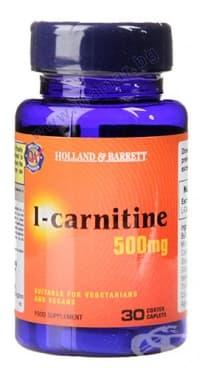 Изображение към продукта L-КАРНИТИН каплети 500 мг * 30 HOLLAND & BARRETT