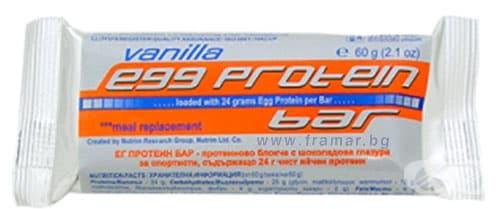 Изображение към продукта НУТРИМ ЕГГ ПРОТЕИНОВ БАР - вкус на ванилия 60 гр.