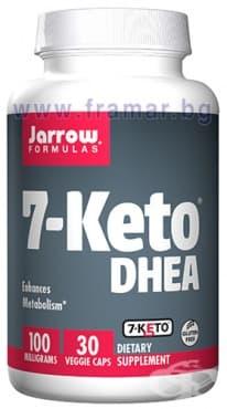 Изображение към продукта ДЖАРОУ ФОРМУЛАС 7-КЕТО DHEA капсули 100 мг * 30