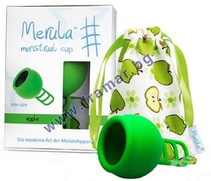 Изображение към продукта МЕНСТРУАЛНА ЧАШКА МЕРУЛА ЯБЪЛКА един размер