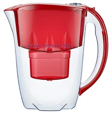Изображение към продукта АКВАФОР АМЕТИСТ ЧЕРВЕНА КАНА ЗА ФИЛТРИРАНЕ НА ВОДА 2.8 литра В 25+