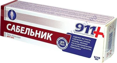 Изображение към продукта 911 САБЕЛНИК ГЕЛ БАЛСАМ ЗА СТАВНИ ЗАБОЛЯВАНИЯ 100 мл