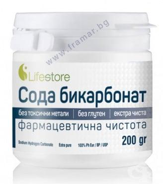 Изображение към продукта ЛАЙФСТОР СОДА БИКАРБОНАТ 200 гр.