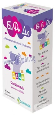 Изображение към продукта БИФИДО КИДС СИНБИОТИК дъвчащи таблетки * 20 ДАНСОН