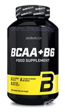 Изображение към продукта БИОТЕЧ BCAA + ВИТАМИН Б 6 таблетки * 200